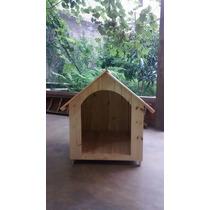 Casa Para Cães/cachorros Madeira Pinus Número 6