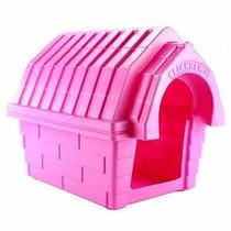 Casa Cor Rosa Casinha Para Cães De Porte Médio N4 Click New