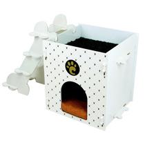 Casinha Para Cães Joint Escadinha E Caminha Superior Madeira