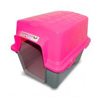 Casinha Plástica Para Cães N°3 Rosa - Furacão Pet