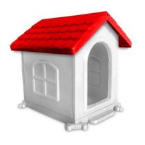 Casa Para Cães Desmontável N° 3 65 X 60 X 45 Vermelha