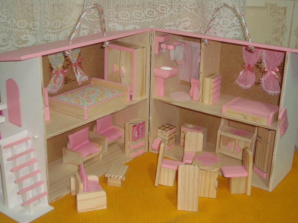 casinha de boneca madeira polly cor rosa #B57909 1200x900
