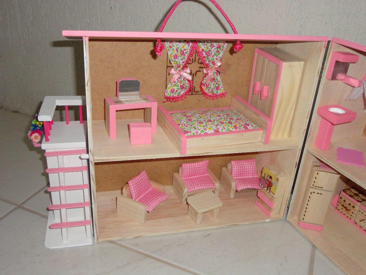 casinha de boneca madeira polly cor rosa #AB203F 1200x900