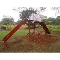 Playground Pica Pau Em Madeira Em Lei E Tubos