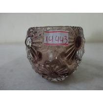 #14443 - Castiçal Vidro Fumê Decorado Flores!!!