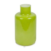 Luminária De Mesa Pequena Garrafa Verde Em Vidro - 28x14 Cm