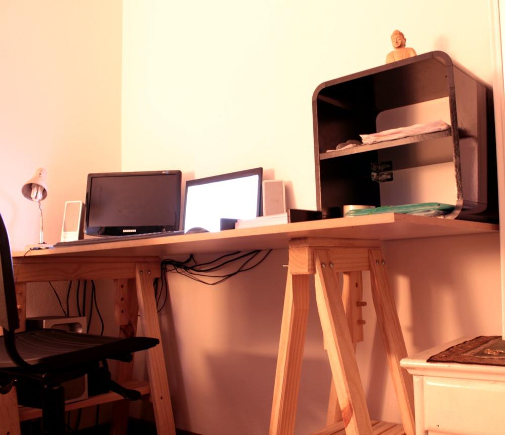 Adesivo Espelho Banheiro ~ cavalete mesa escritorio madeira tok stok etna design anos50