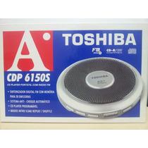 Diskman / Discman Toshiba Com Rádio Fm - Frete Grátis