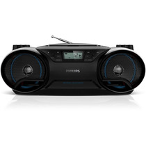 Rádio Portátil Boombox Philips Cd/mp3/usb 5w Az3811/78 Preto