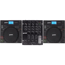 Kit Pick-up Dj (completo) 2 Cdj 250 + 1 Mixer Ps3 Usb Gemini