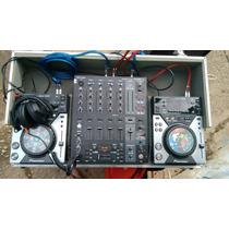 Par Cdj Pioneer Djm400 + Mix Behringer Djx900 + Case + Cabos