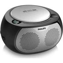 Som Portátil Com Cd Player E Mp3 Philips Az-380 Preto