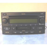 Cd Player X6 E Toca Fitas Toyota - P/ Hilux E Corolla