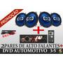 Dvd Hurricane 3,5 + Falantes 6 Hurricane + Brinde
