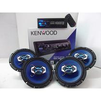 Kit Som Kenwood + Alto Falantes Hurricane Nissan March