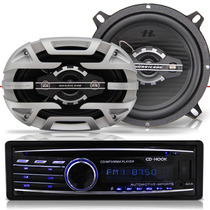 Cd Player Automotivo Usb + Par Alto Falante Para Pra Carro