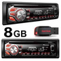 Toca Cd Player Mp3 Pioneer Usb Frontal+ Pen Drive 8gb Grátis