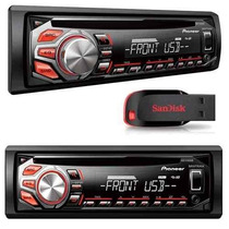 Rádio Toca Cd Player Pioneer Deh 1650ub + 1 Pen Drive De 8gb