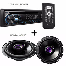 Cd Player Pioneer Mp3 Aux Deh-x1880ub + Alto Falante 6 50w