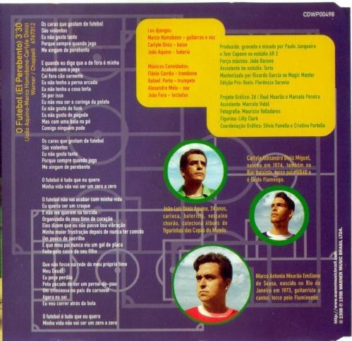 Cd-single-los Djangos-o Futebol