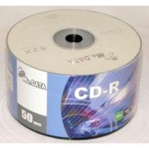 50 Cd-r Mr Data Midia Virgem Com Logo 52x 700mb Lacrado