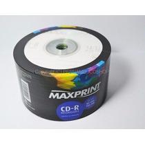 50 Cd-r Virgem Mídia Maxprint 80min/700mb 52x Lacrado
