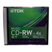 1 Cd-rw Digital Áudio Tdk Music Regravável - 80 Min - 1-4x