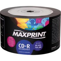 Cd-r Maxprint 52x C/ Logo - 100 Unidades