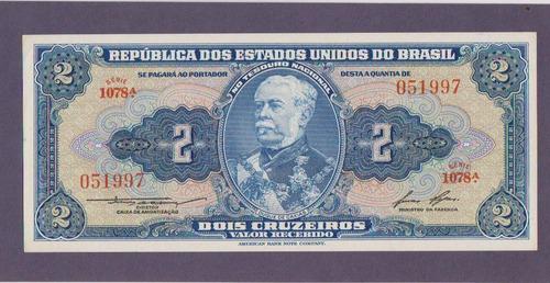 Cedula De Dois Cruzeiros Primeira Estampa Duque De Caxias
