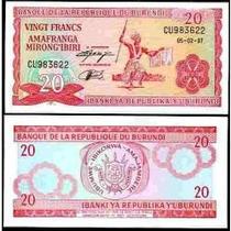 Burundi 20 Francos 1979 P. 27a Fe Cédula - Tchequito