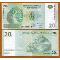 Congo (ex-zaire) 20 Francos 2003 P. 94a Fe (g&d) - Tchequito