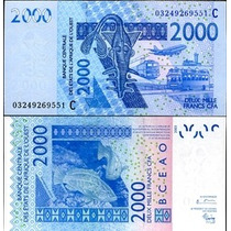 West African States Burkina Faso P-316ca Fe 2000 Francs 2003
