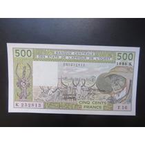 Cédula West African States Senegal - 500 Francs 1986 Fe ###