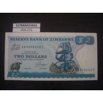 (jam.272) Cedula De Zimbabwe - 2 Dollars - Fe
