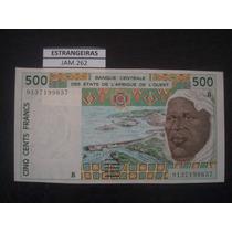 (jam.262) Cedula De West African - Benin - 500 Francs - Fe