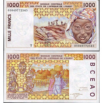 West African States Togo P-811 Tk Fe 1.000 Francs 2001 * Q J