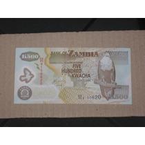 Cédula Zâmbia 500 Kwacha (p43) 2011 - Polímero - Fe