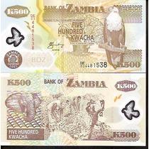 82.113 - Zâmbia - 500 Kwacha - 2005 - Polímero - F E
