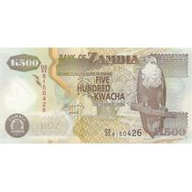 500 Kwacha - Zâmbia - Fe - Pássaros - Animais - Polímero