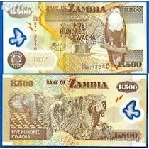 Zâmbia - 500 Kwacha De 2.008 - Fe