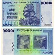 Zimbábue 1 Milhão Dollars 2008 P. 77 Fe Cédula Belíssima