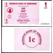 Zimbábue 1 Cent 2006 P. 33 Fe Cédula - Tchequito