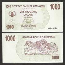 Zimbabwe, 1.000 Dollars, 2006, Bearer Cheque, Fe.