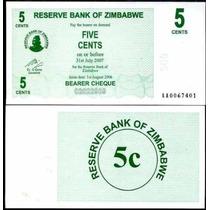 Zimbabwe Zimbabue P-34 Fe 5 Cents 2006 * Q J *