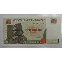 Zimbabwe: Bela Cédula De 50 Dollars De 1994 Fe
