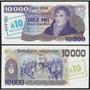 Argentina - Céd. 10.000 Pesos - Carimbo 10 Australes - Fe