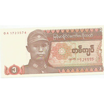 490 - Cédula Estrangeira Myanmar - One Kyat