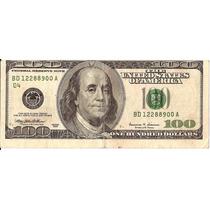 Cedula Dos Ee.uu.de Cem Dollares-sem Margem Superior