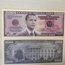 L-723 Cédula De U$ Dólares Barack Obama Usa Fantasia 2008
