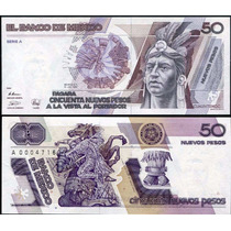México 50 Novos Pesos 1992 P. 97 Fe Cédula - Tchequito